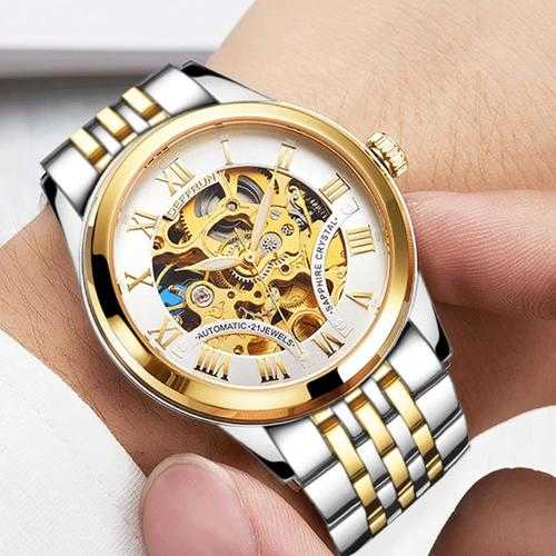 DEFFRUN DM0001 Roman Number 3D Dial Case Men Watch