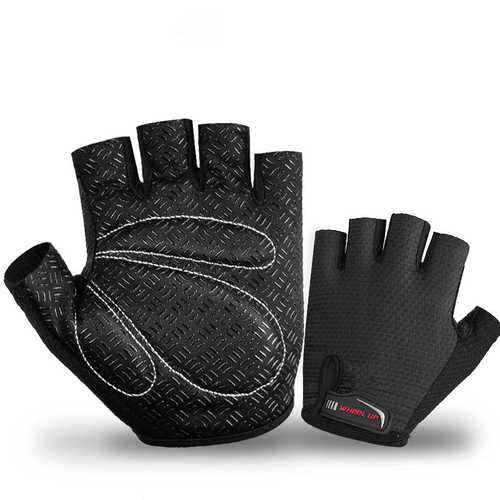 WHEEL UP S043 Men Anti-skidding Wearproof Half Finger MTB Mountain Bike Gloves