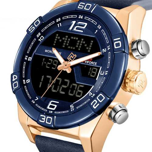 NAVIFORCE 9128  Chronograph Alarm Dual Display Digital Watch