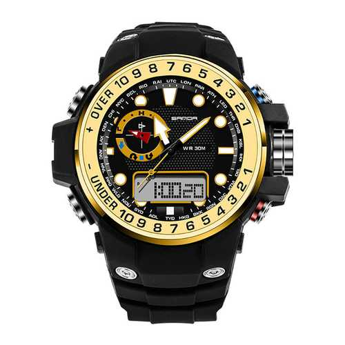 SANDA 399 Calendar Luminous Alarm Dual Display Digital Watch