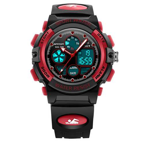 SANDA 116 Children Luminous Alarm Dual Display Digital Watch