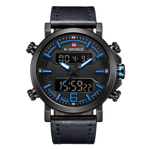 NAVIFORCE 9135 Luminous Calendar Dual Display Digital Watch