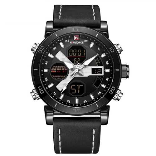 NAVIFORCE 9132 Luminous Calendar Dual Display Digital Watch