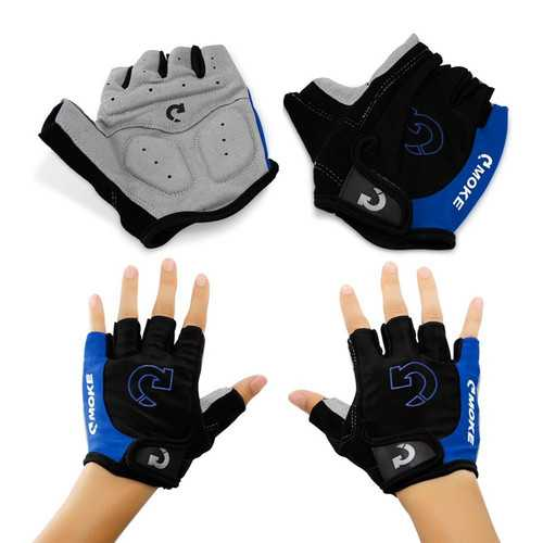 MOKE Cycling Mountain Road Bike Bicycle Gloves Half Finger Anti-slip Unisex Gloves