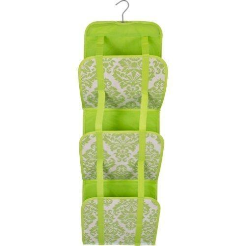 Travelon Hanging Handbag Organizer - Set of 2 (Lime Damask)