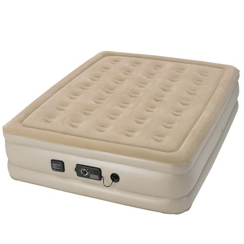 Insta-Bed Raised 18 Inch Queen Air Bed w NeverFlat pump