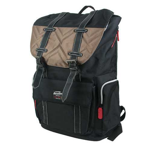 Travelers Club Heavy Duty Scout 18 Laptop Backpack - Black