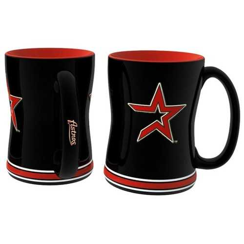 Houston Astros Coffee Mug - 14oz Sculpted Relief