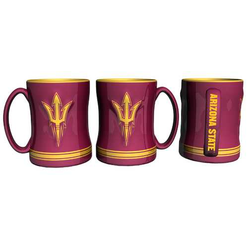 Arizona State Sun Devils Coffee Mug - 14oz Sculpted Relief Special Order