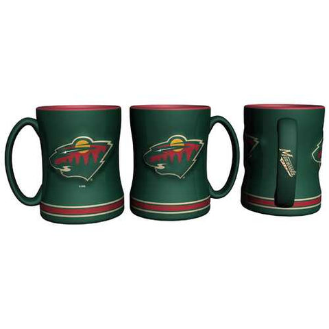 Minnesota Wild Coffee Mug 14oz Sculpted Relief Special Order