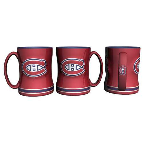 Montreal Canadiens Coffee Mug 14oz Sculpted Relief Special Order