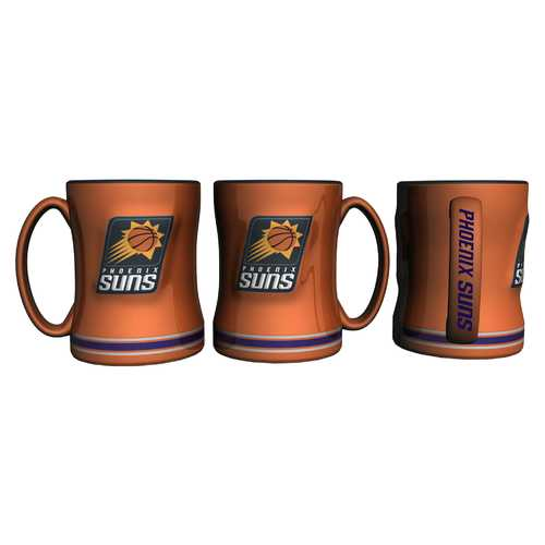 Phoenix Suns Coffee Mug 14oz Sculpted Relief Special Order