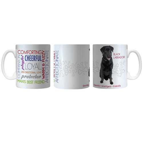 Pet Coffee Mug 11oz Black Labrador Special Order