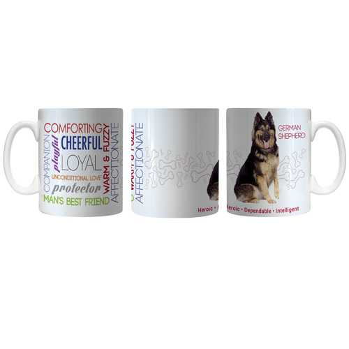 Pet Coffee Mug 11oz German Shepherd Special Order