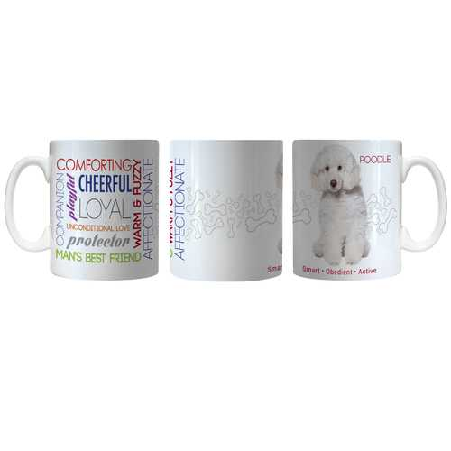 Pet Coffee Mug 11oz Poodle White Special Order