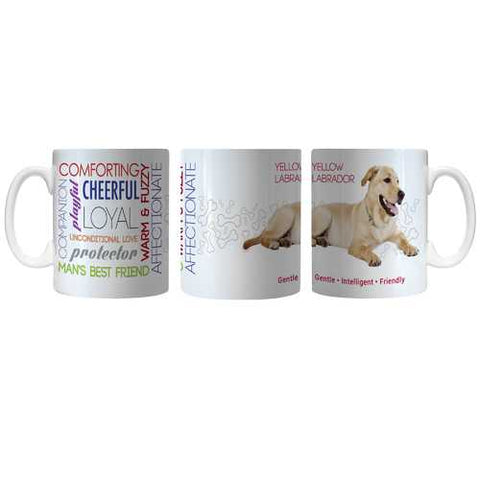Pet Coffee Mug 11oz Yellow Labrador Special Order