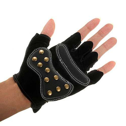 Bike Bicycle Half Finger Cycling Gloves Riding Skateboard Gloves