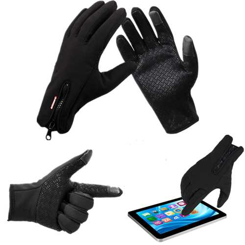 Winter Sports Bike Skiing Touch Screen Windproof Fleece Gloves
