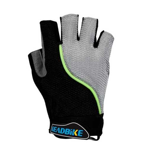 Bicycle Bike Cycling Gloves Half Finger Gloves With Reflective Tape 3 colors