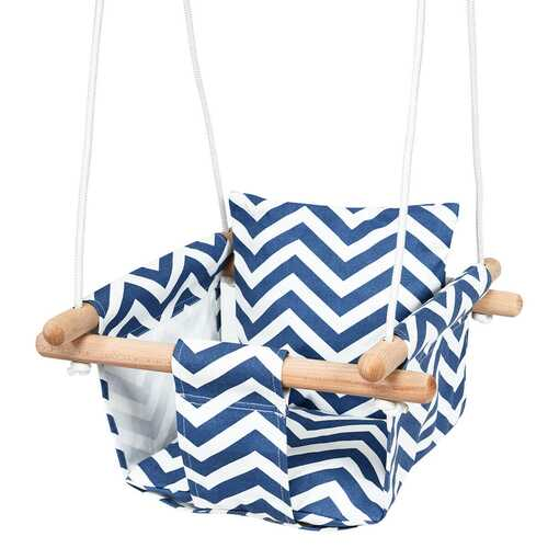 Indoor Outdoor Baby Canvas Hanging Swing-Blue