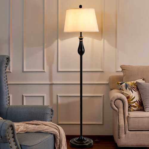 3 pcs Brushed Nickel Lamp Set-Black