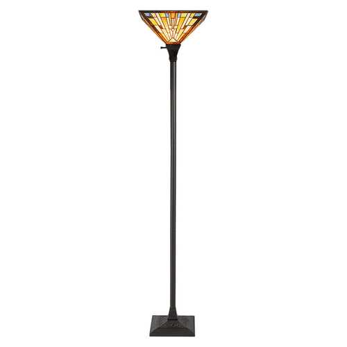 "1-Light Torchiere Floor Lamp with 14"" Lampshade"