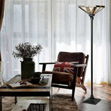 "Tiffany-Style 1-Light Floor Lamp w/ 14"" Lampshade"