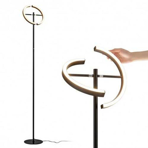 Modern Dimmable Torchiere Touch Control Standing LED Floor Lamp-Black