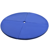 "2"" Foldable Pole Dance Yoga Exercise Safety Cushion Mat-Blue"