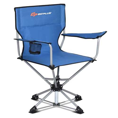 360? Free Rotation Collapsible Portable Swivel Camping Chair