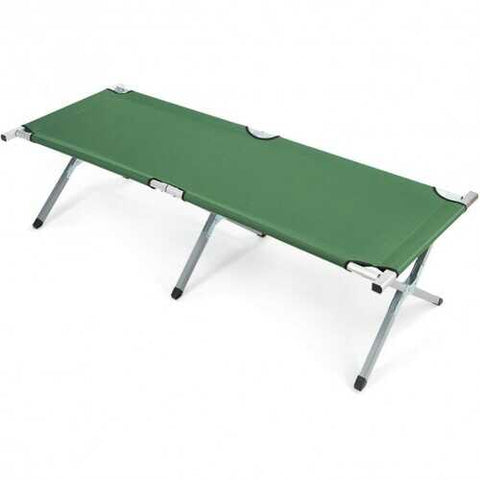 Folding Camping Cot Heavy-duty Camp Bed with Carry Bag