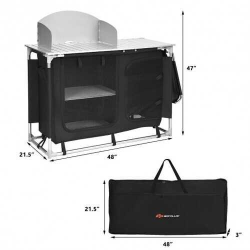 Portable Camp Kitchen and Sink Table