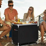 Outdoor Camping Cooking Table with Storage Organizer