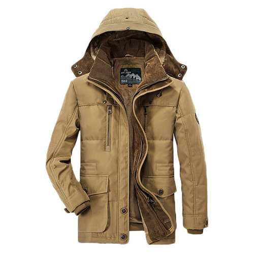 Thicken Multi Pockets Hooded Jackets