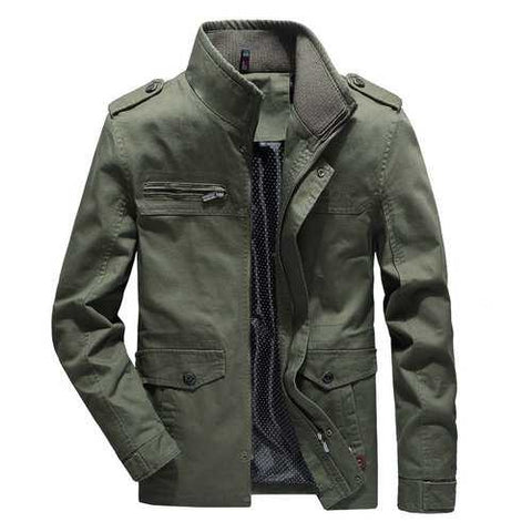 Men's Military Multi Pockets Washed Jackets