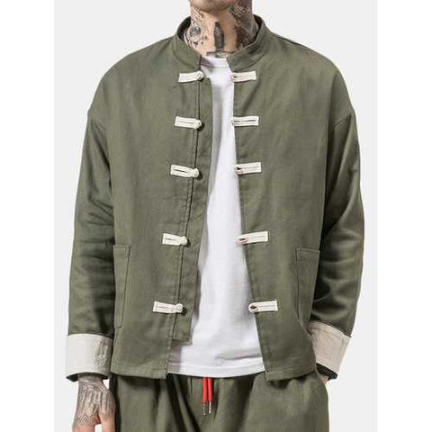 Chinese Style Retro Long Sleeve Casual Jacket