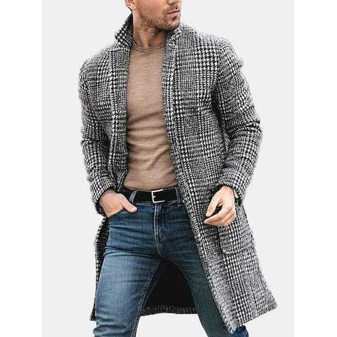 Mens Warm Single Breasted Coat