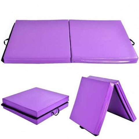 "6' x 38"" x 4'' Purple Gymnastics Mat Two Folding Panel"