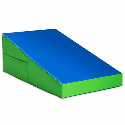 Incline Wedge Fitness Skill Tumbling Gymnastics Mat-Blue and Green