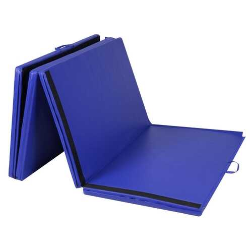 "4'x10'x2"" Thick Folding Panel Gymnastics Mat-Blue"