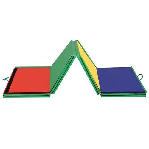 "4'x10'x2"" Thick Folding Panel Gymnastics Mat-Color"