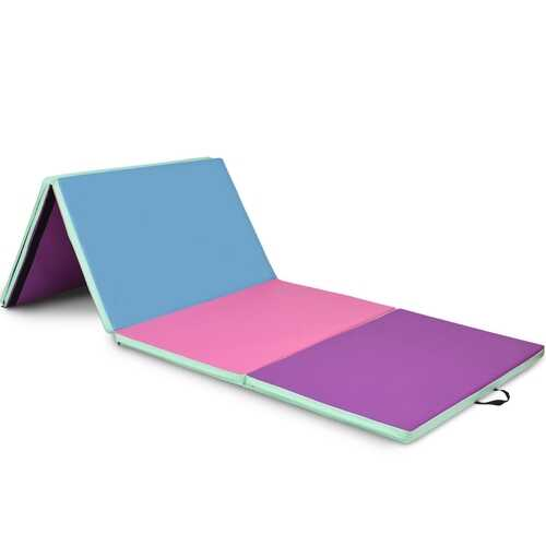 "4' x 10' x 2"" Portable Gymnastics Mat Folding Exercise Mat"