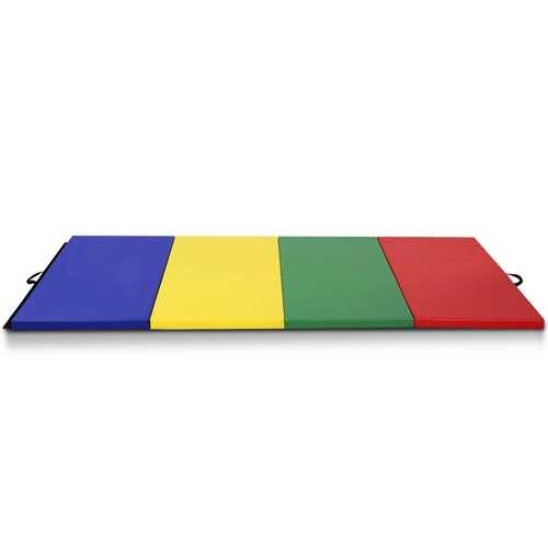 "4' x 8' x 2"" 4 Colors Folding Panel Gymnastics Mat"