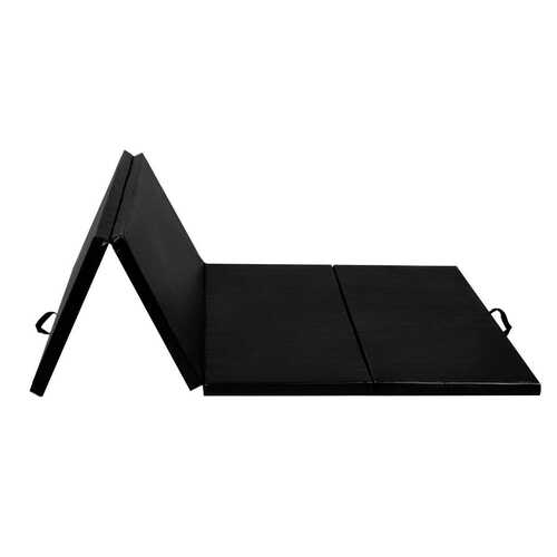 "4' x 8' x 2""  Folding Panel Exercise Gymnastics Mat-Black"