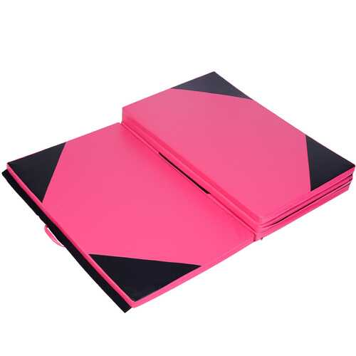 "4' x 10' x 2"" Thick Folding Panel Gymnastics Mat"