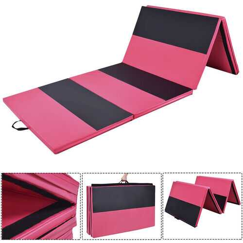 "4' x 10' x 2"" Folding Panel Thick Fitness Exercise Gymnastics Mat"