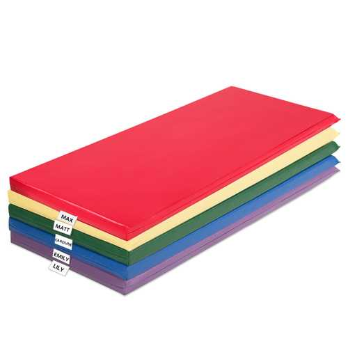 2-Inch Toddler Thick Rainbow Rest Nap Mats 5-Pack