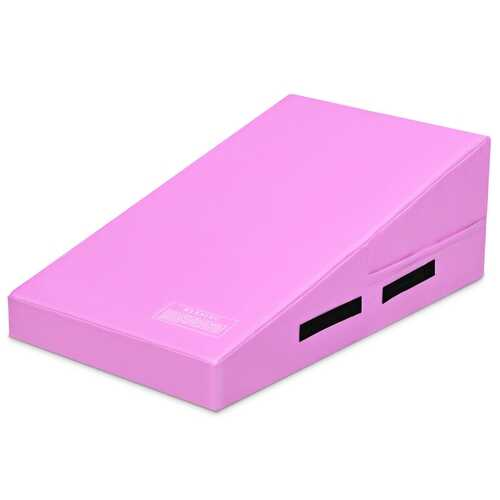 Incline Gymnastics Mat Wedge Ramp Gym Tumbling Exercise Mat-Pink