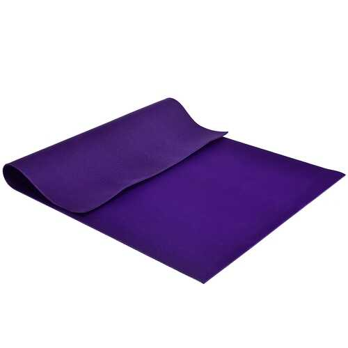 7' x 5' x 8 mm Thick Workout Yoga Mat-Purple