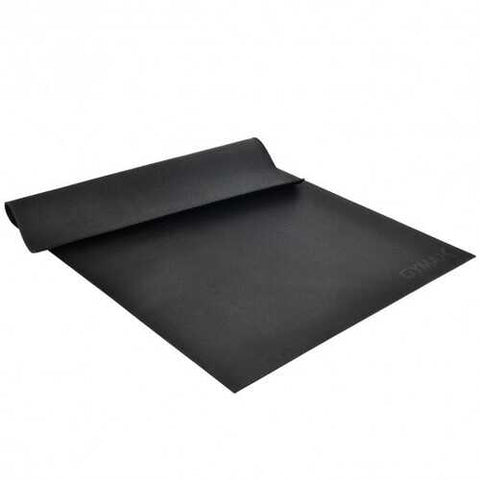 Large Yoga Mat 6' x 4' x 8 mm Thick Workout Mats-Black